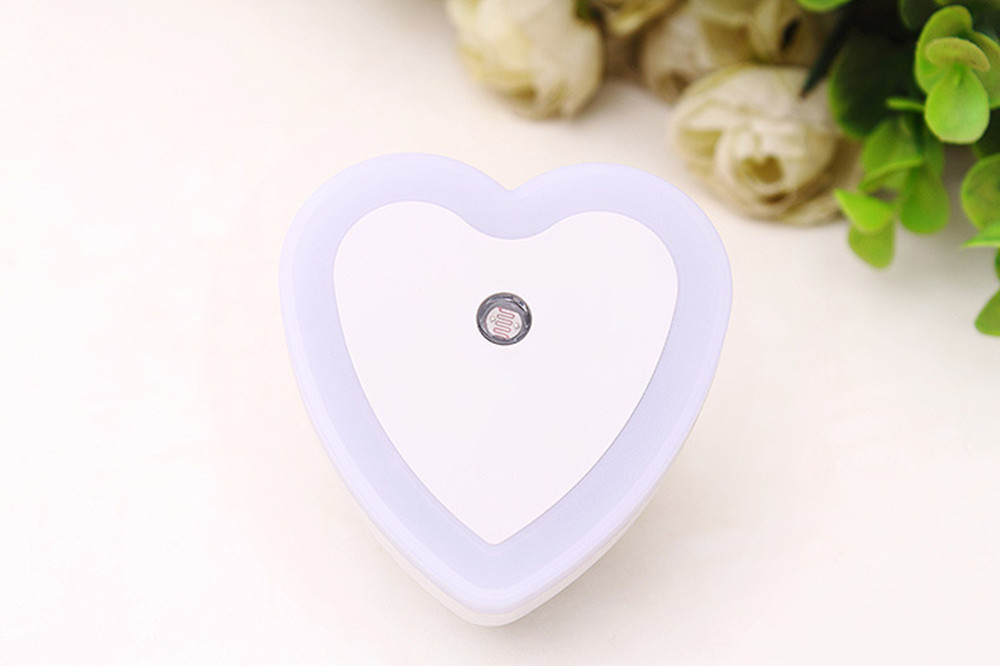 SuperNight Heart AC LED Night Light Intelligent Light Control Sensor Corridor Stairs Bedroom Bedside Toilet Home Decor Wall Lamp (13)