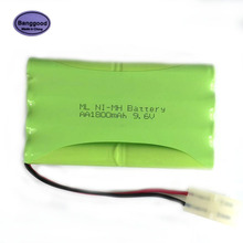 Banggood 9.6V 1800mAh 8x AA Ni-MH RC Rechargeable Battery Pack for Helicopter Robot Car Toys Modle-2 w/ Tamiya Connector Plug(China)
