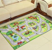Kids Rug used for Home Living Room Bedroom Playing Room Carpet Baby Room Boy Playing Crawling Pad Creeping Mat Nursery Floor Mat(China)