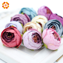 10pcs Silk Flower Artificial Flower Head Artificial Flower Wedding Decoration Wreaths Wedding Car Decoration Spring Decoration