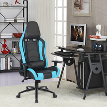 iKayaa US UK FR Stock Gaming Office Chair Computer Chair Recline Height Armrest Adjustable Swivel Function for Manager Chairs