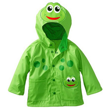 Cheap Sale Waterproof Kids Raincoat Cartoon Wind Resistant Kids Hooded Rain Coat Rainwear For Kids Regenmantel(China)