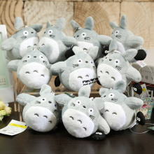 Cute Japanese Anime Cartoon My Neighbor Totoro Plush Keychain Dolls Toys 4'' 10cm 2Styles 10pcs/lot(China)