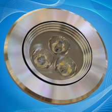 Free shipping Dimmable 3x3W LED Downlight Recessed LED Light Lamp Wite Led Driver White/ warm white led lamp CE Certificate(China)