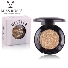 Miss Rose Professional Makeup Glitter Eyeshadow Palette Single Eyes Pigment Minerals Eye Shadow Waterproof Korea Cosmetics(China)