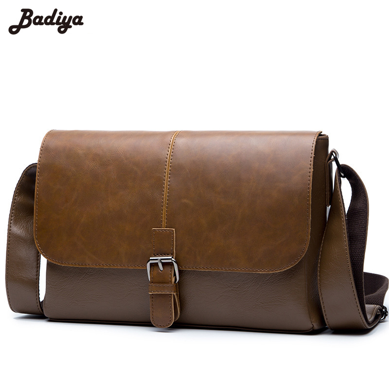 Men Handbag Sac PU Leather Solid Small Flap Phone Bag Purse for Coins Notebook Bag Male Portable Hasp Classic Shoulder Bag Bolsa<br>