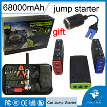 Promotion Multi-Function Mini Portable Emergency Battery Charger Car Jump Starter 68000mAh Booster Power Bank Starting Device(China)