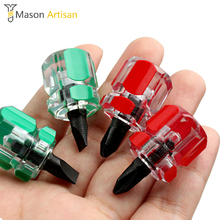 2Pcs/Lot Mini Screwdriver Phillips & Slotted Screwdrivers Ultrashort Screw Driver Hand Tool Random Color