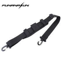 1000D Nylon Padded Shoulder Strap with Double Hooks for Bag Pouch Outdoor Sports Camping Travel Adjustable Shoulder Belt Sling
