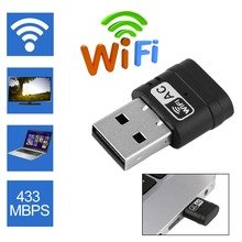 600Mbps 5Ghz 2.4Ghz Protable Wireless USB WiFi Adapter 802.11ac Network Dongle For Desktop Notebook Computer