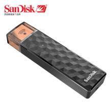 New 100% Original SanDisk Connect Wireless Stick USB Flash Drive 64GB 32GB SDWS4 Wi-Fi + USB 2.0 16GB 128GB Pen Drives 32G 64G