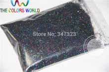 0.4MM Laser Black Color holographic Glitter dust nail tools or other art Decoration sequins(China)