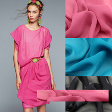 SC009 100% Natural Silk/Sweet Candy/Dye/Silk Fabric Silk Georgette Mulberry Silk/Width 1.20yd Thickness 12mm