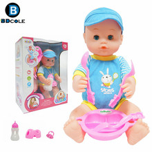 Buy BDCOLE 15inches 38cm Reborn Baby doll Pretend Play Toy Blue Pink Nipple Tableware Baby Bottle Accessories New Doll Girl