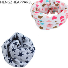 2017 New Spring Autumn star baby scarf 40*20cm kids child cotton scarves boys girl O Ring scarf children collar child neck scarf