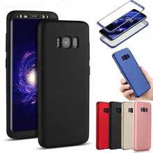 360 Degree Full Body Soft PC+TPU Case For Samsung Galaxy S8 S8 Plus Note 8 Matte Silicone Case For Samsung Galaxy S7 S7 Edge