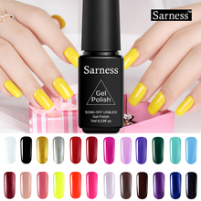 Sarness UV LED Nail Gel Lacquer Soak Off UV Gels Varnish Glitter 29 Colors UV Gel Nail Polish Long Lasting Need Base Top Coat(China)
