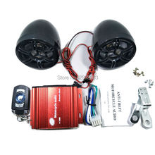 Anti-Theft Motorcycle audio set radio speakers sound moto amplifier 12V MP3 music Player scooter Alarm TF Card Stereo control