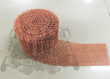 4 Wire Copper Mesh for distillation, Copper packing, Still column packing  T2(M0) length 1m, width 10cm, wire diameter 0.15mm