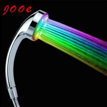 Jooe water power Colorful LED Shower Head Handheld Temperature Sensor Light Shower Head No Battery Bathroom Accessories