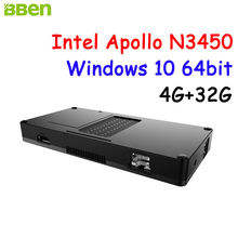 Newest BBEN Intel Mini PC Windows 10 Celeron Apollo N3450 4GB RAM + 32G ROM HDMI RJ45 usb3.1 Type C Stick PC Mini Computer PC