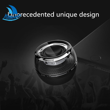 Portable HIFI 3D Surround 3.5mm Aux Audio Jack Mini Wireless Round Shape Powerful Crystal Speaker Altavoz for Smart Phone Tablet(China)
