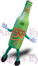 Green Cider Bottle Mascot Adult Costume Carnival Fruit Juice Advertising Mascotte Fancy Dress Kits Suit for Health No Logo(China)