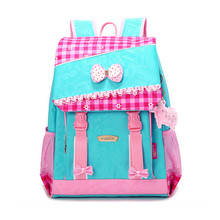 princess backpack cute pink floral schoolbags flower print backpack backpacks children blue waterproof nylon school book bags