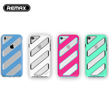 Remax Phone Case For iPhone 6 7 Case 4 Colors Twill Design Rubberized PC Hard Cover For iPhone 6 7plus Smooth Protective sleeve(China)