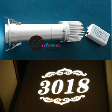 Free Shipping 20W Led Light Projector for Custom Glass or Metal Gobos Posters Patterns Logo Gobo Projection Kit Lighting(China)