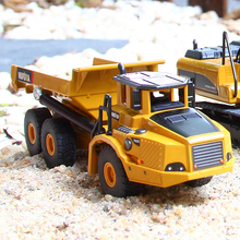 DODOELEPHANT 1:50 Scale Alloy Excavator Dumper Engineering Metal Diecast Truck Car Funny Toy For Boys Kids Birthday Gift(China)