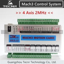 XHC MK4 Mach3 breakout board 4 axis USB motion control card 2MHz support windows 7,10