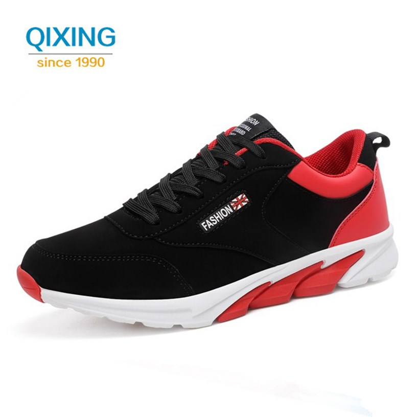 New Sneakers Men Running Shoes Outdoor Jogging Athletic Sport Shoes Man Pu Leather Breathable Runing Shoes Men Sneakers