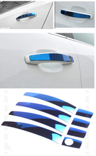 FUNDUOO For Chevrolet Captiva 2008 2009 2010 2011 Spark 2009 2010 2011 Blue Stainless Steel Door Handle Covers trim(China)