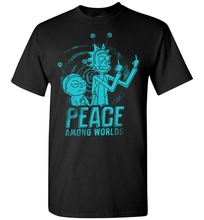 2017 Hot Sale Fashion Peace Among Worlds Rick And Morty Mr Meeseeks Shirt Cartoon Tee Shirt Homme High Quality Top Tees