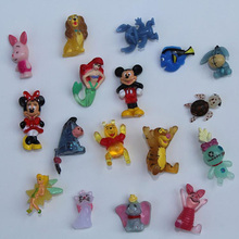 20 pcs/lot Hard PVC SQUINKIES Cartoon Size1cm-2cm Several Styles Random Mixed(China)