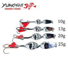 2017 New 4pcs/set Special Spiral Design Spoon Metal Fishing Lures Crank Bait Tackle Spinner Hard Bait Spoon Bass Fishing Lure(China)