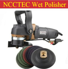a combo of HIGH QUALITY 5'' water WET stone polisher+Euro plug +A set of 5'' polishing wheels+5'' stick pad |125mm angle grinder