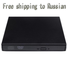USB DVD Optical Optic Disc Drive Drives Portable USB 2.0 DVD CD DVD-Rom SATA External Case Slim for Laptop Notebook
