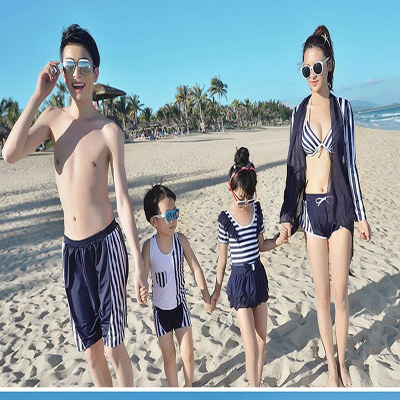 Family swimwear father mother kids bikini set female swimsuit couple swimming suit summer beachwear on-piece bodysuit swimwear<br><br>Aliexpress