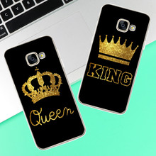 King Queen Case For Samsung Galaxy S4 S5 S6 S7 Edge S8 Plus A3 A5 J1 J2 J3 J5 J7 2015 2016 2017 Back cover Note 8