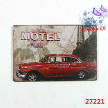 2015NEW motel phone the car metal signs vintage Gallery Poster tps vintage Plaque Wall Decor Plate