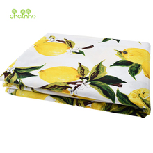 New arrived Lemon printed Cotton Poplin Fabric Patchwork For Sewing Cloth Doll Sheet Skirt Dress Material Tissue Half Meter(China)
