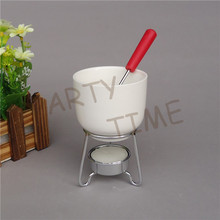 Mini fondue cup for one person, cheese and chocolate cup for fondue recipe(China)