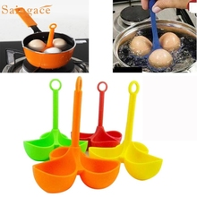 Silicone 3 Egg Holder Boiler Cooking Egg Boiler Egg Cooker Holder Poacher Dipper Wonderful3.21/20%