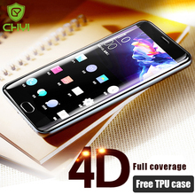 CHYI 4D Curved Glass For Oneplus 5 Full Cover Round Edge 1+5 Screen Protector For One Plus 5 Tempered Glass Film 3D Free Case