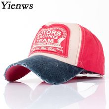 Yienws Vintage Trucker Hat For Men Bone Chapeau Cowboy Dad Hats Old Worn Full Casquette Baseball Navy Cap YIC434(China)