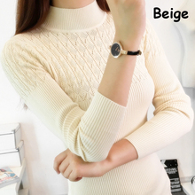2017 Autumn Winter Women Sweaters and Pullovers Turtleneck Hollow Out Sexy Slim Knitting Sueter Mujer Pull Femme Maglioni Donna