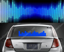 50*16 Blue Sound Music Activated Car Sticker DC 12V Equalizer Light EL Panel LED Equalizer Glow Flash Operated Window Wall Neon
