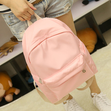 Summer simple fresh design silk oxford backpack fashion girls leisure bag student school book bag small travel bag